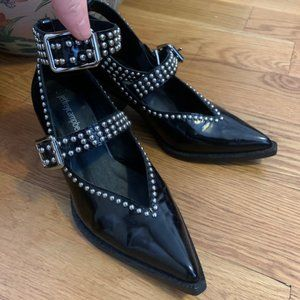 Jeffrey Campbell Shoes - Jeffrey Campbell Black Studded Strap Heels